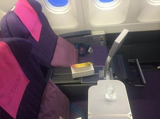 Business Class Thaï Airways entre Singapour et Bangkok