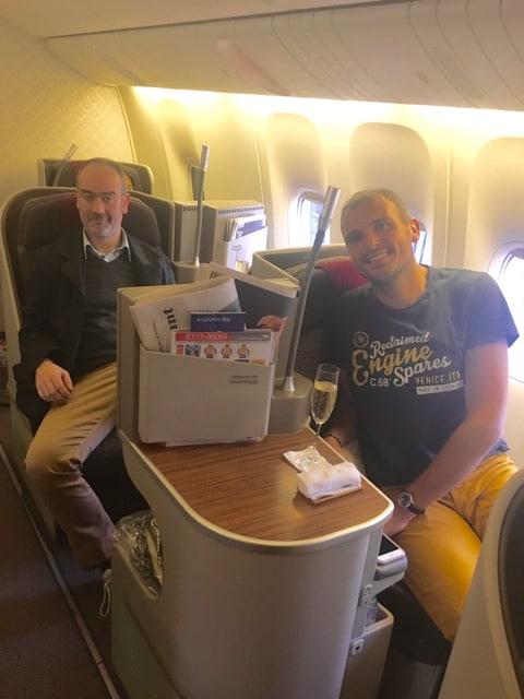 Business class Garuda 777