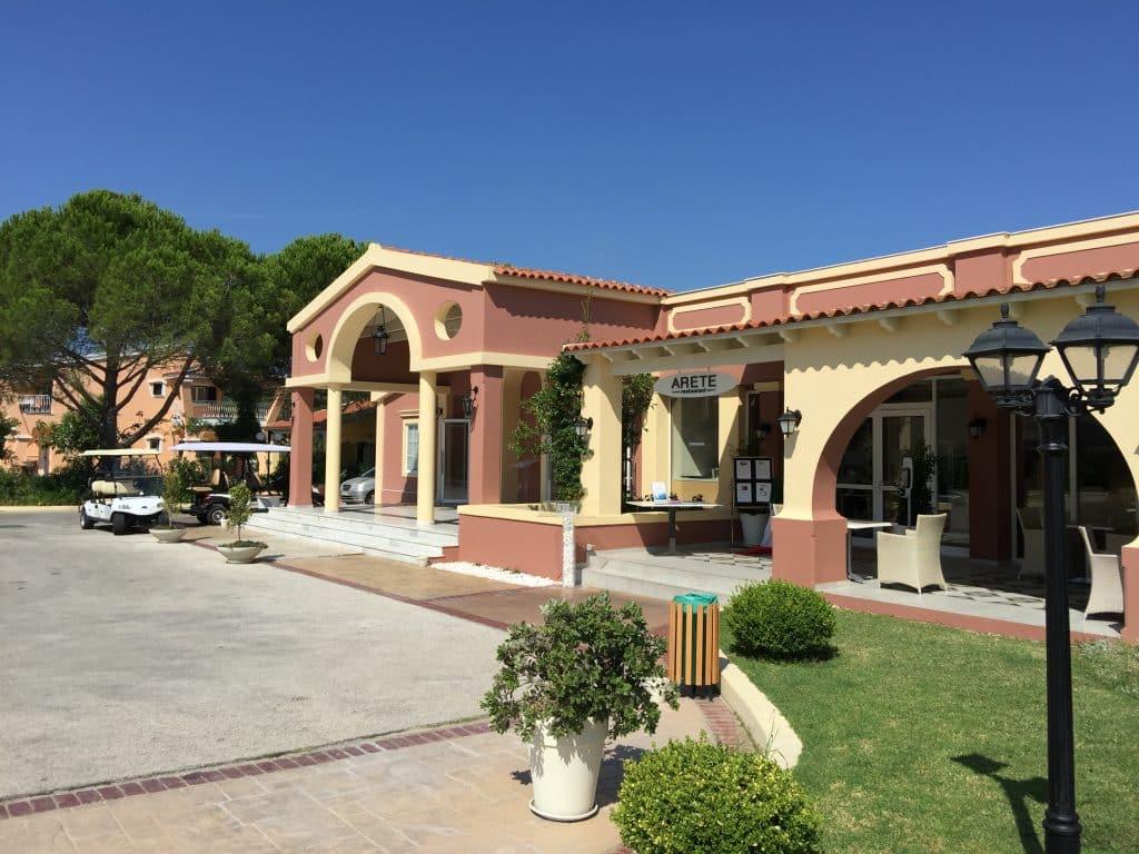 Zone de réception de l'hôtel Mayor Capo di Corfu