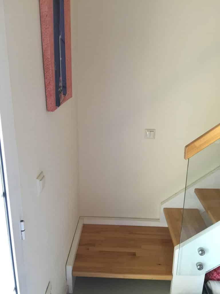 Escalier de la suite familiale du Mayor Capo di Corfu
