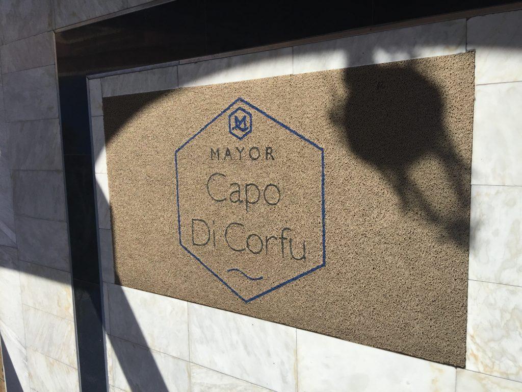 Entrée de la réception du Mayor Capo di Corfu