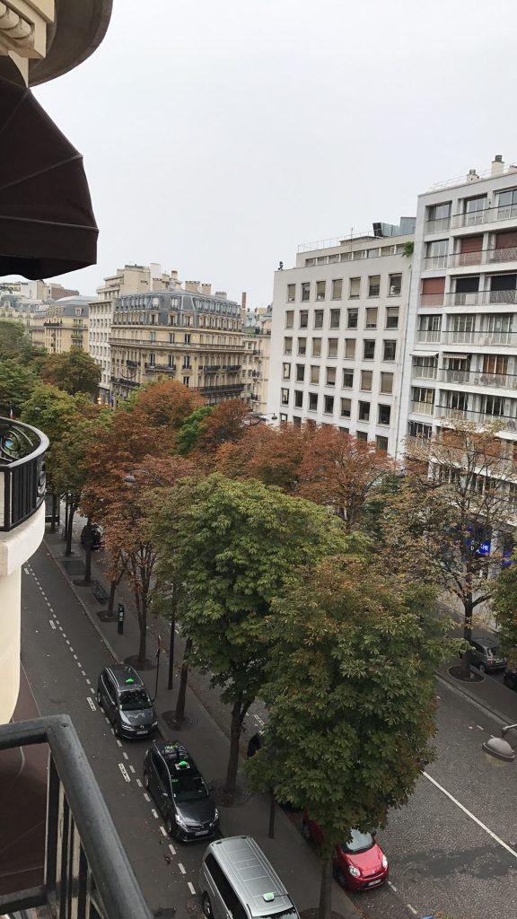 Vue depuis la suite Makassar du Prince de Galles, Paris