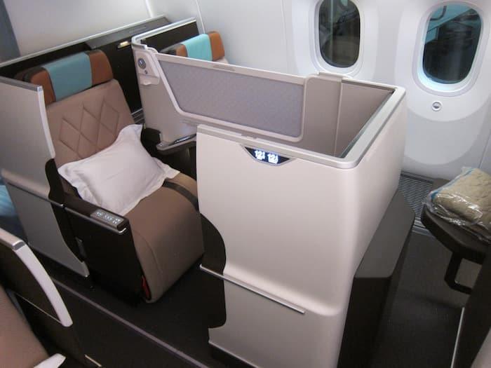 Siège de la cabine Business Oman Air sur 787