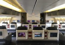 Cabine Business d'un boeing 777 de Turkish Airlines