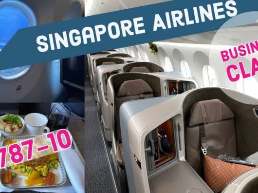 Vidéo : La Business Class Singapore Airlines sur Boeing 787-10